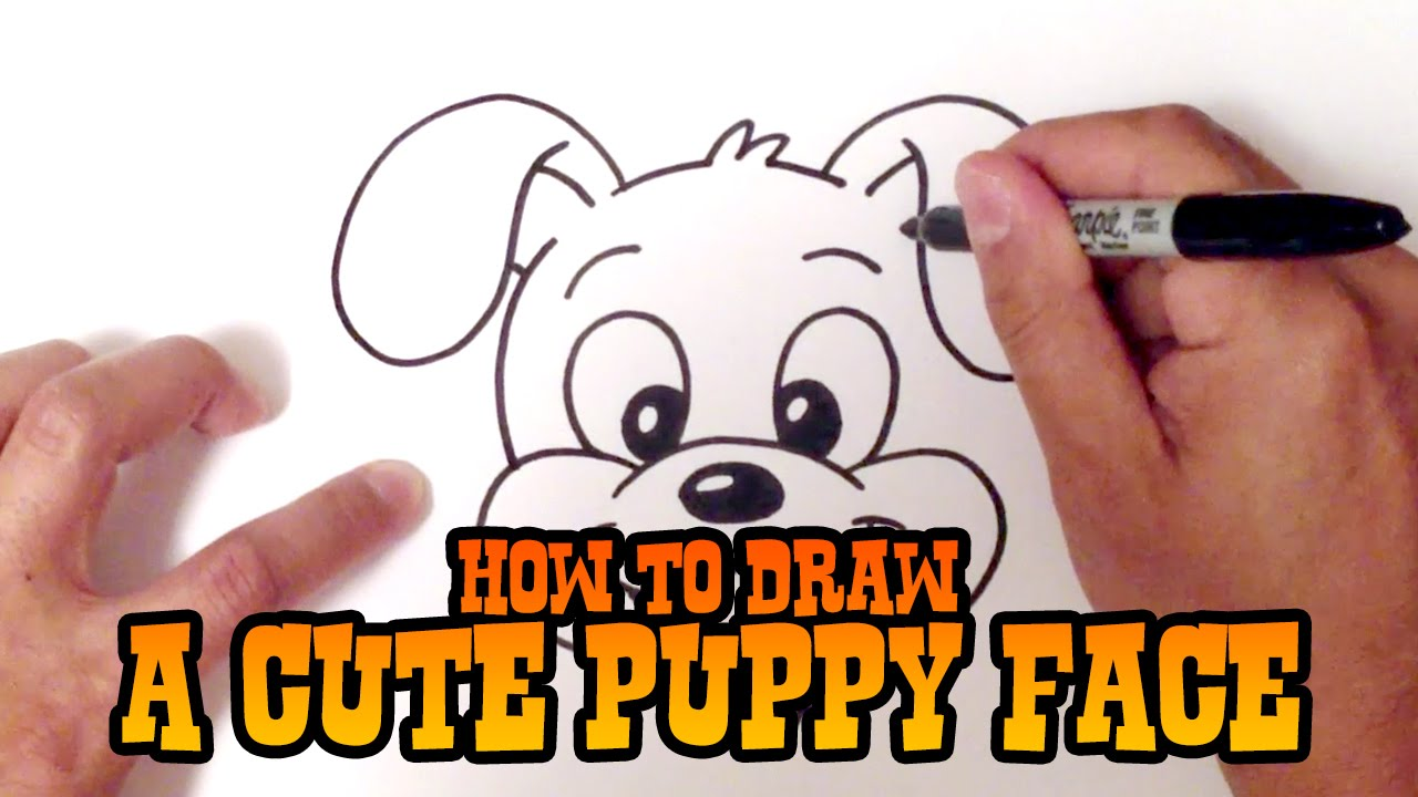 1280x720 How To Draw A Cute Puppy Face