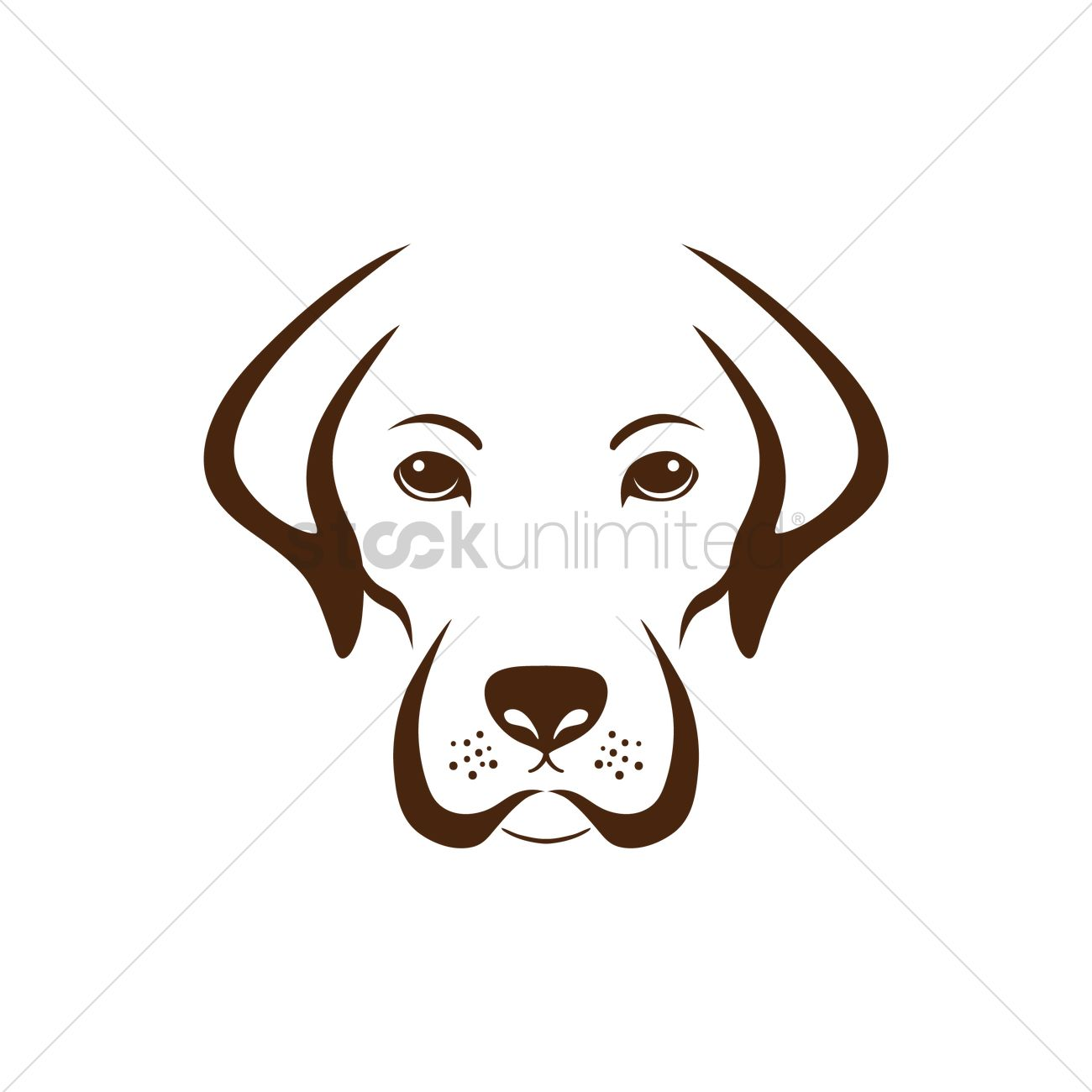 1300x1300 Simple Dog Design Vector Image