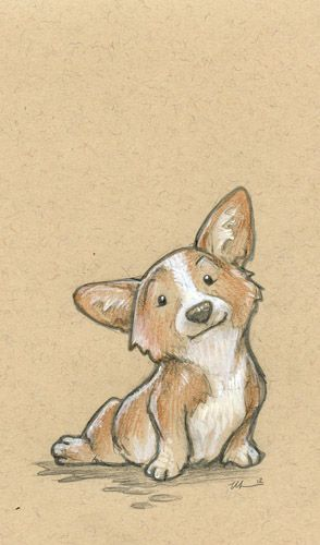 294x500 Corgi Drawing Dog Art Amp Illustrations Corgi, Draw