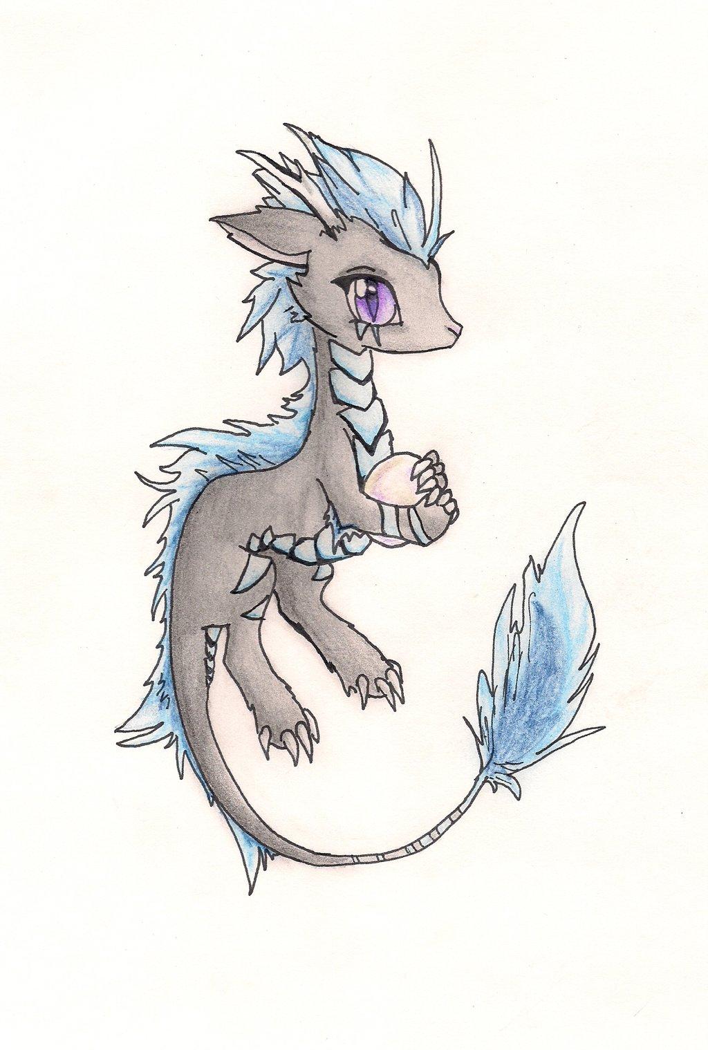 Cute Dragon Drawing at GetDrawings | Free download