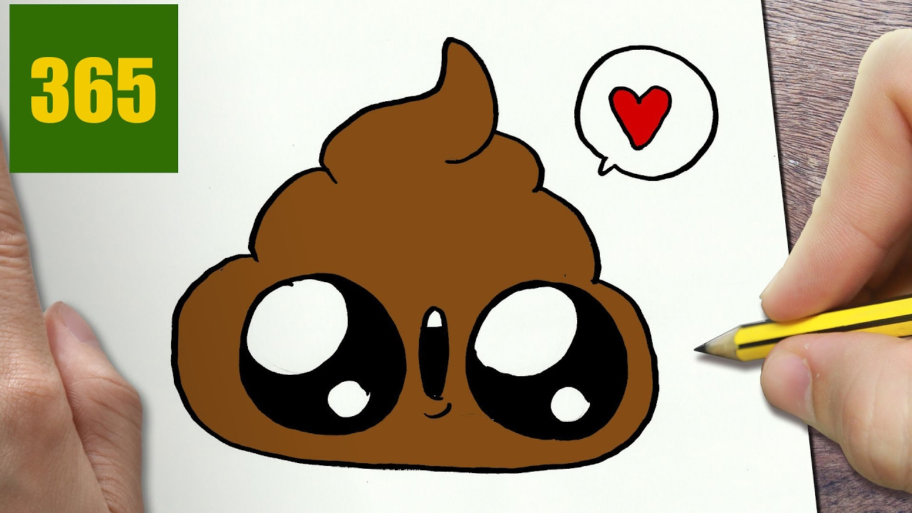 1280x720 Cute Drawings For Kids How To Draw A Poop In Love Easy