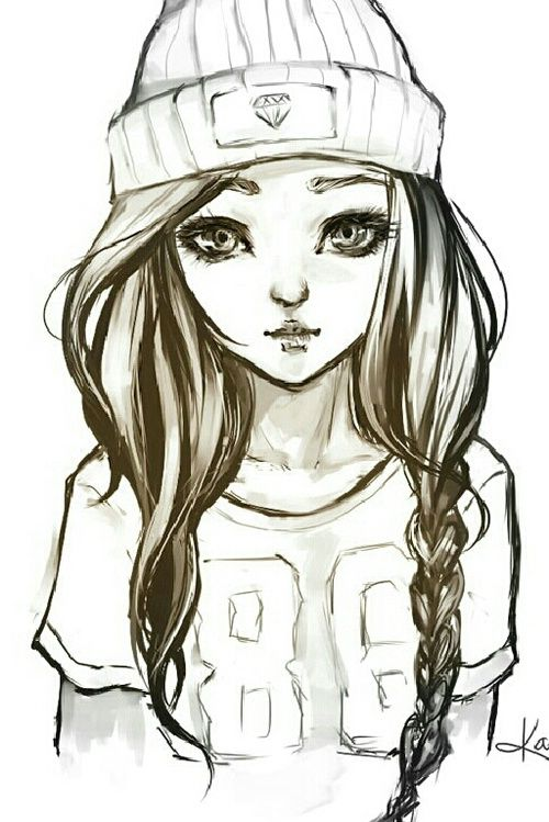 500x749 Pictures Cute Girl Sketch Wallpaper,
