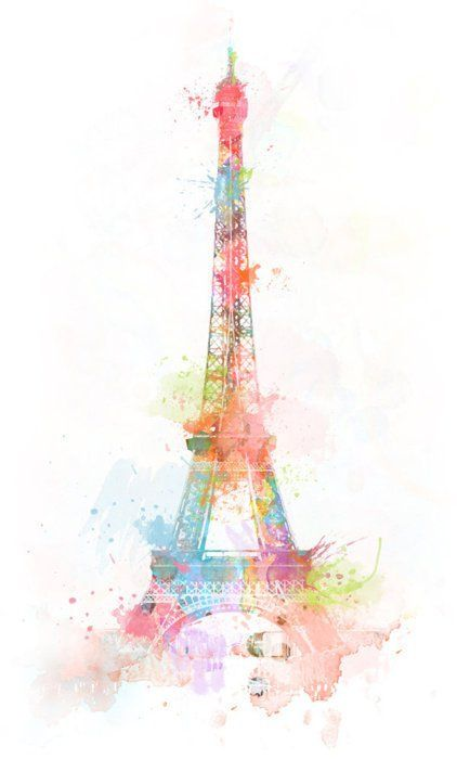 422x700 Colours, Cute, Drawing, Eiffel Tower, France Wallpapers