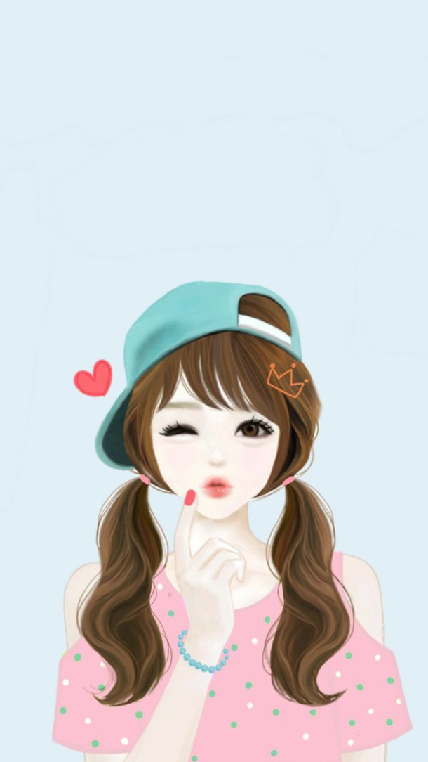 610x1084 Girl, Korean, Enakei, Wallpaper, Kawaii, Cute, Drawing, Background
