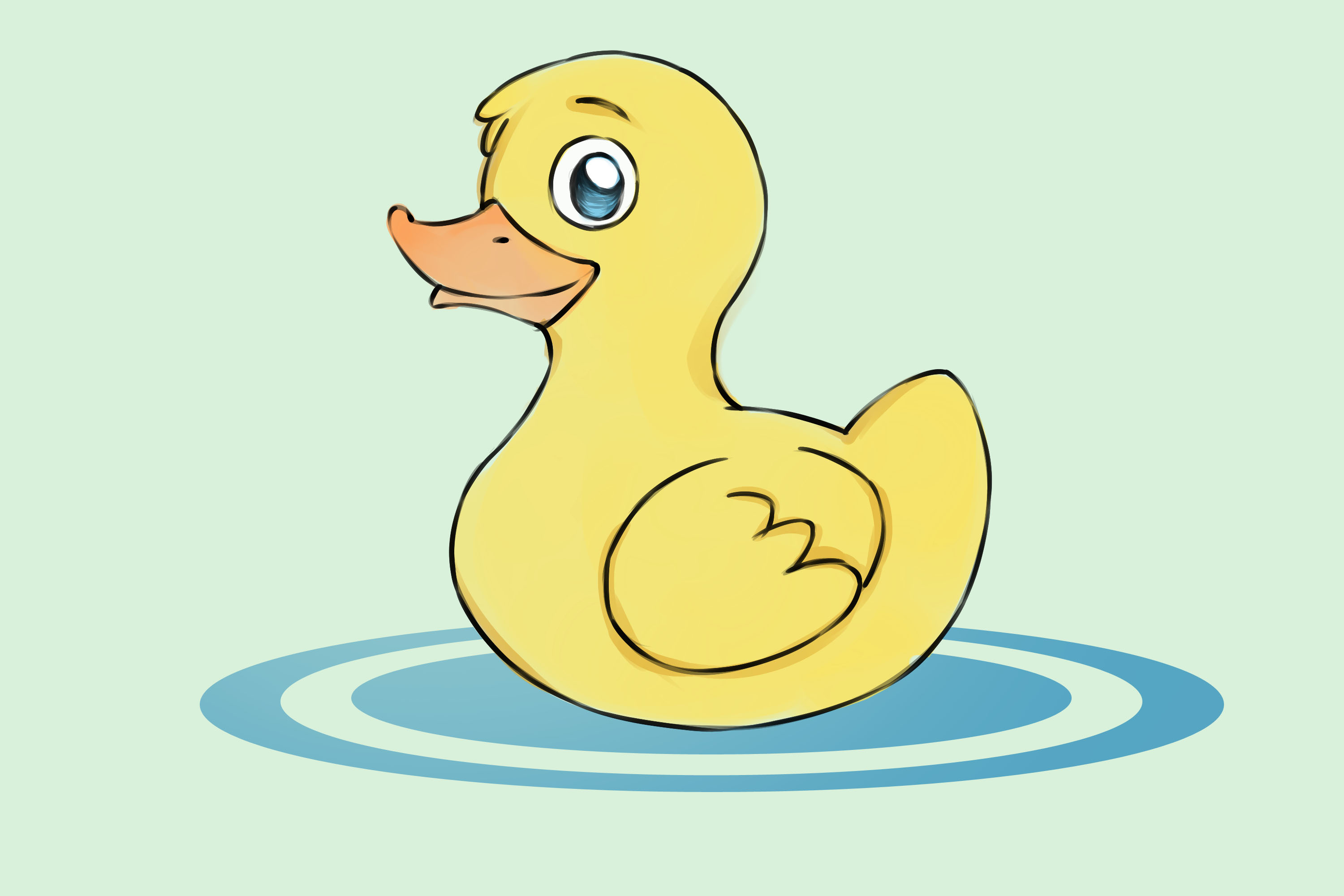 3000x2000 How To Draw Ducks (With Pictures)