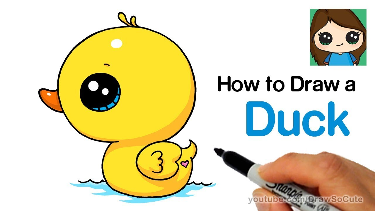 1280x720 How To Draw A Duck Super Easy And Cute