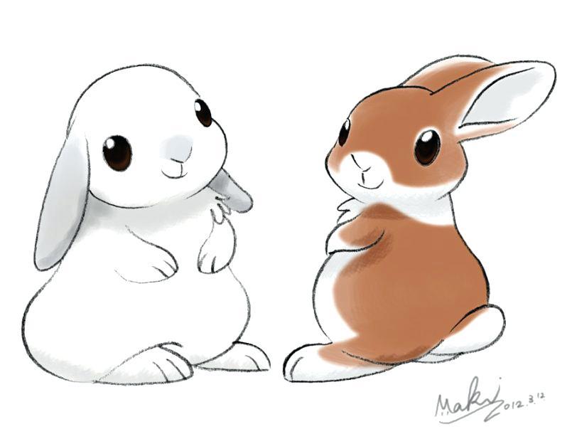 Cute bunny drawing easy
