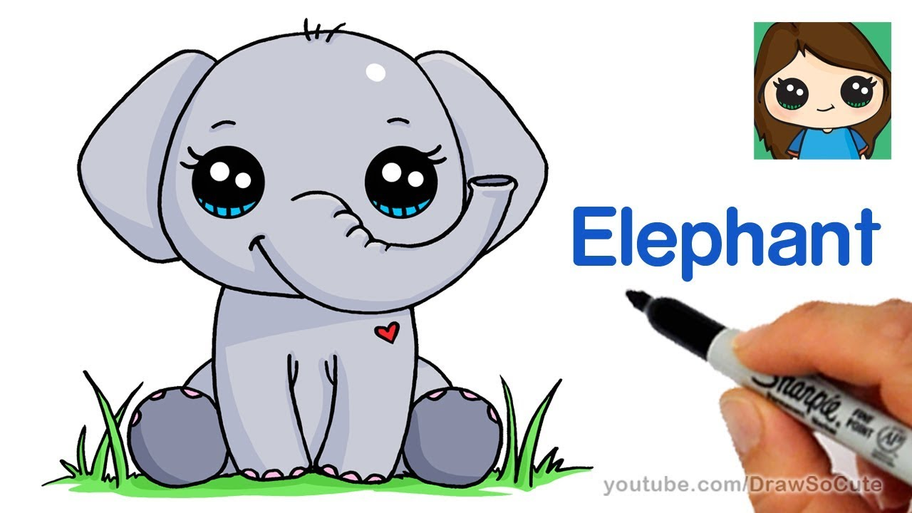 1280x720 How To Draw An Elephant Easy
