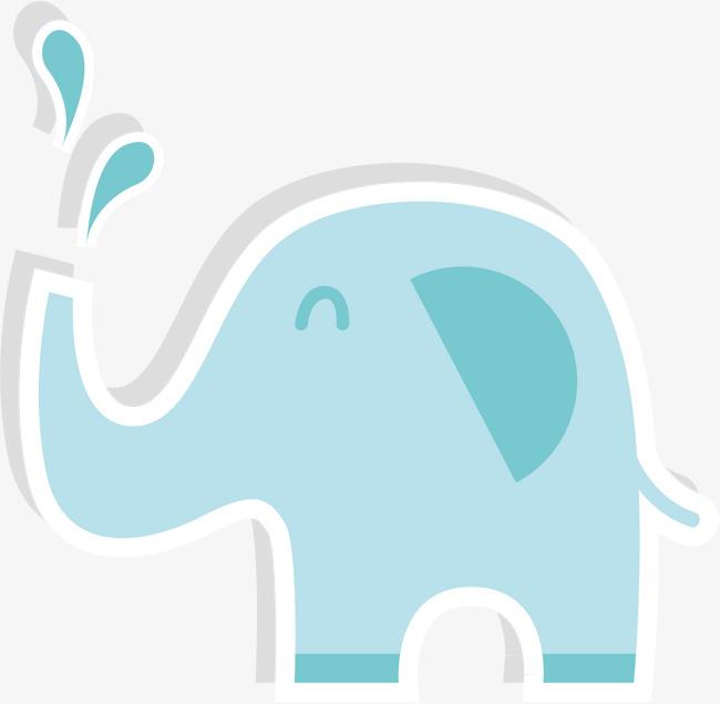 650x635 Vector Hand Painted Cute Elephant, Elephant, Vector Diagram, Hand