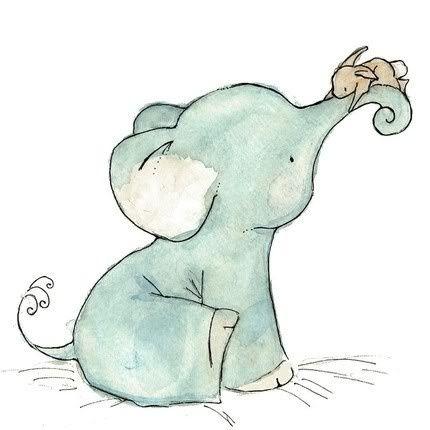 430x430 Bunny, Cute, Drawing, Elephant, First Set On Elephants