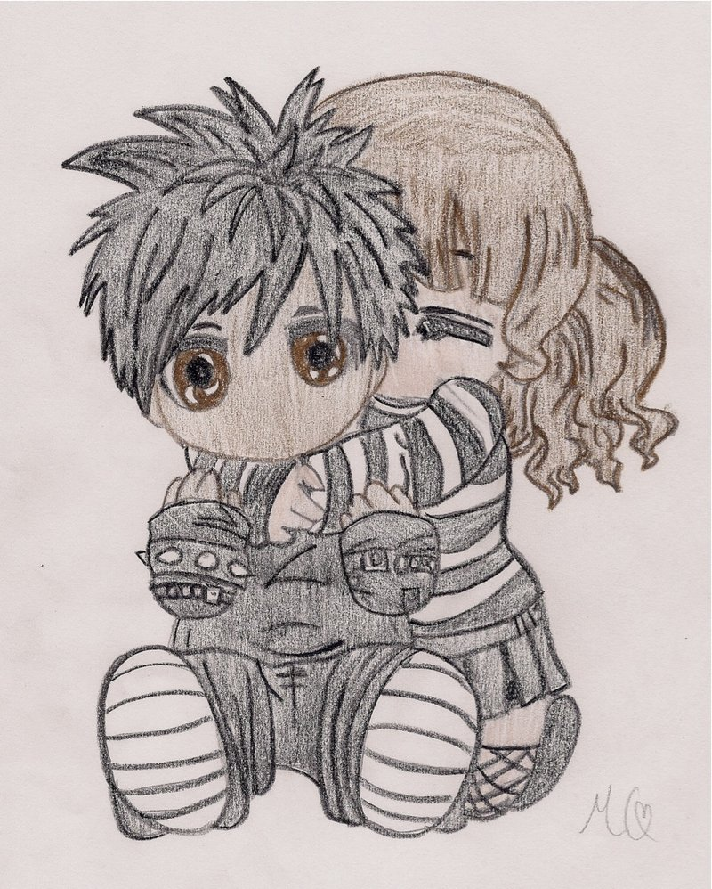 800x998 Cute Emo Couple Two By Littlephillion