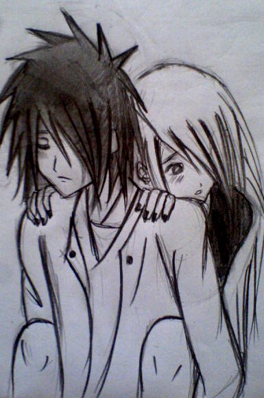 385x580 Emo Couple By Akame9507