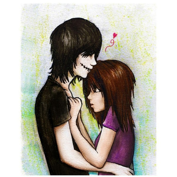 600x600 Emo Couple Awwwwwwwww Liked On Polyvore Featuring Couples