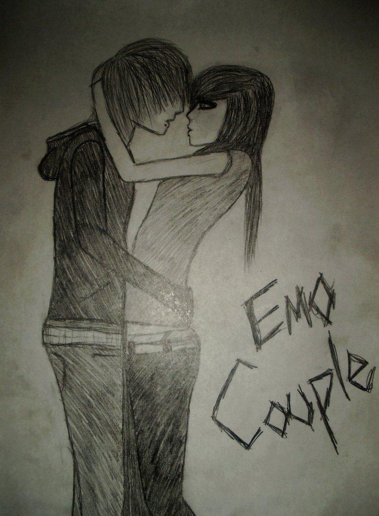766x1042 Super Cute Emo Couple By Pimpinemo