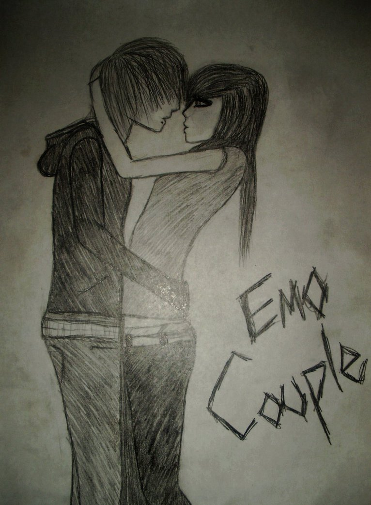 766x1042 Super Cute Emo Couple By Pimpinemo