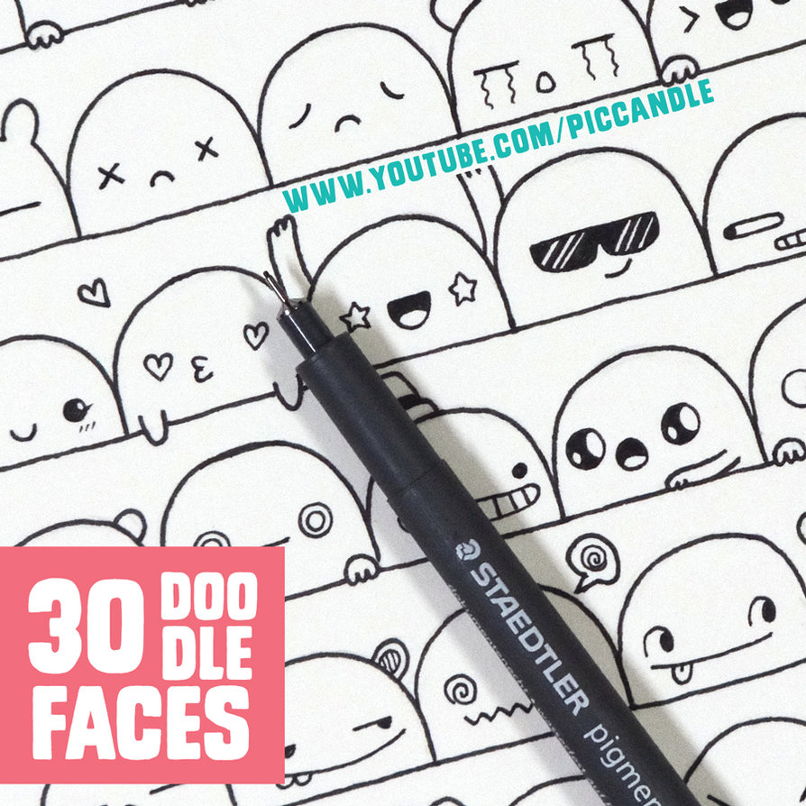 894x894 30 Cute Faces Expressions To Doodle By Piccandle