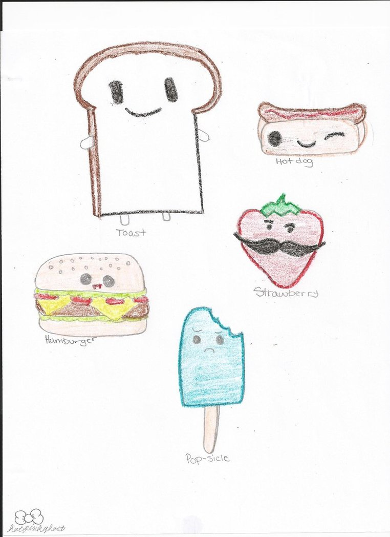 762x1048 Food With Cute Faces By Hotpinkghost