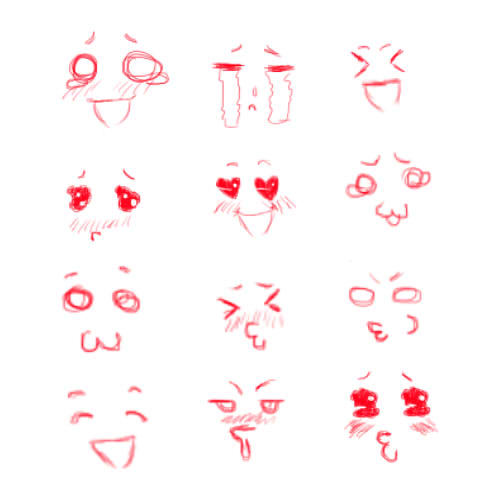 500x500 Cute Faces By Electric Rainbow93 On Drawing Ideas