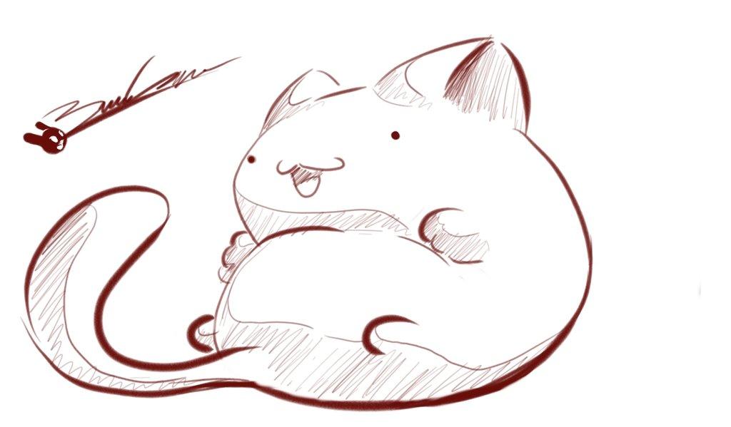 Cute Fat Cat Drawing At Getdrawings Com Free For Personal Use Cute