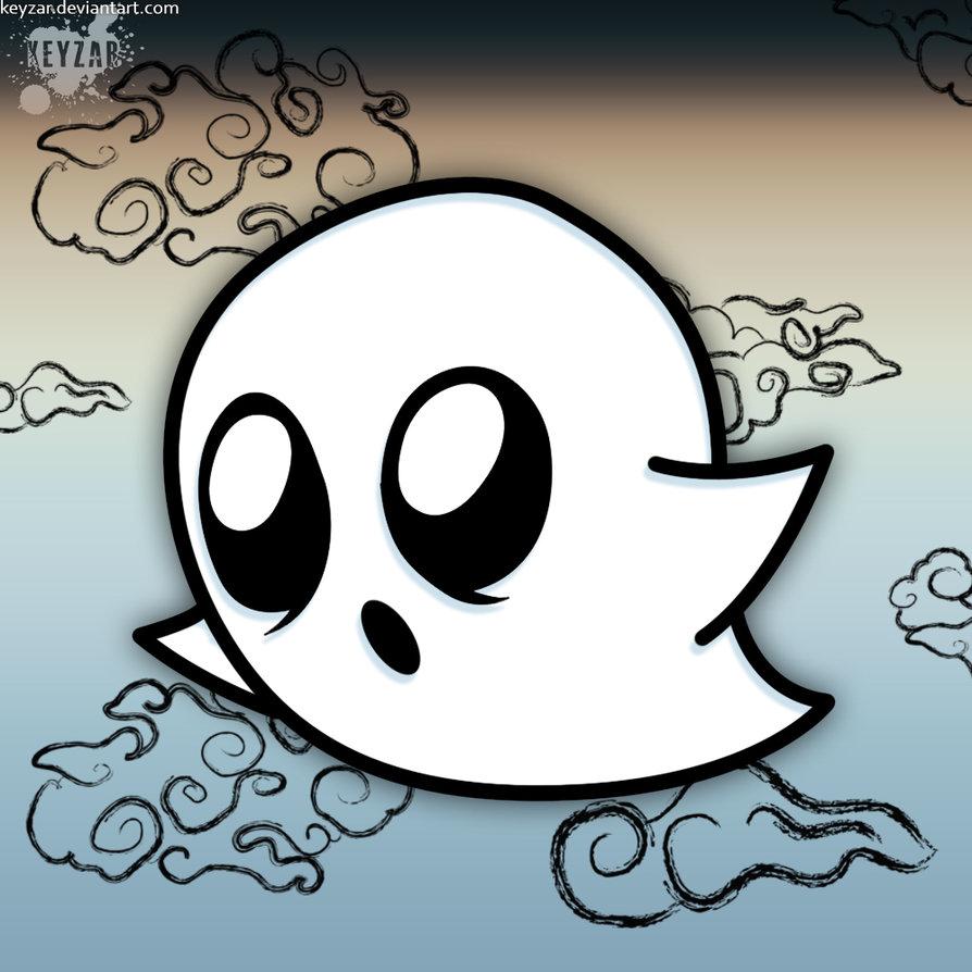 894x894 Chibi Ghost Drawing By Keyzar