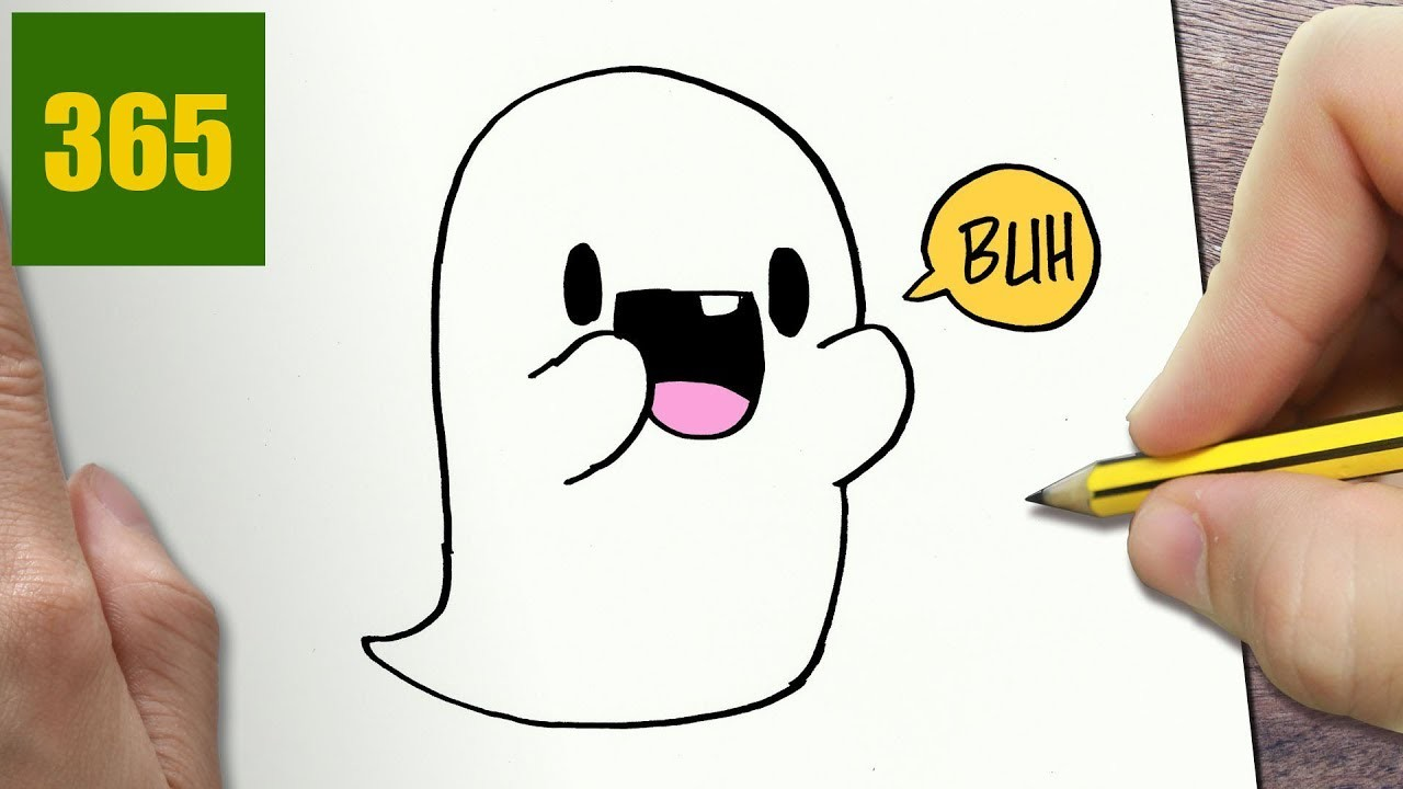 1280x720 How To Draw A Ghost Cute, Easy Step By Step Drawing Lessons