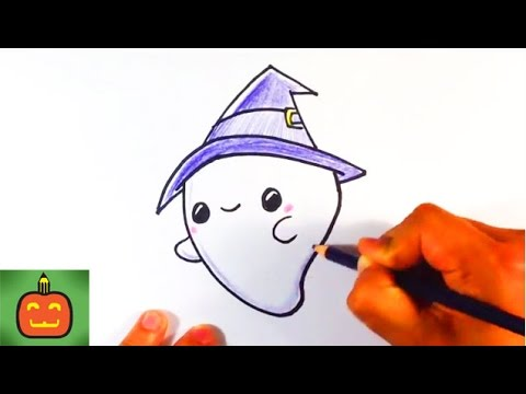 480x360 How To Draw A Cute Halloween Ghost With A Hat