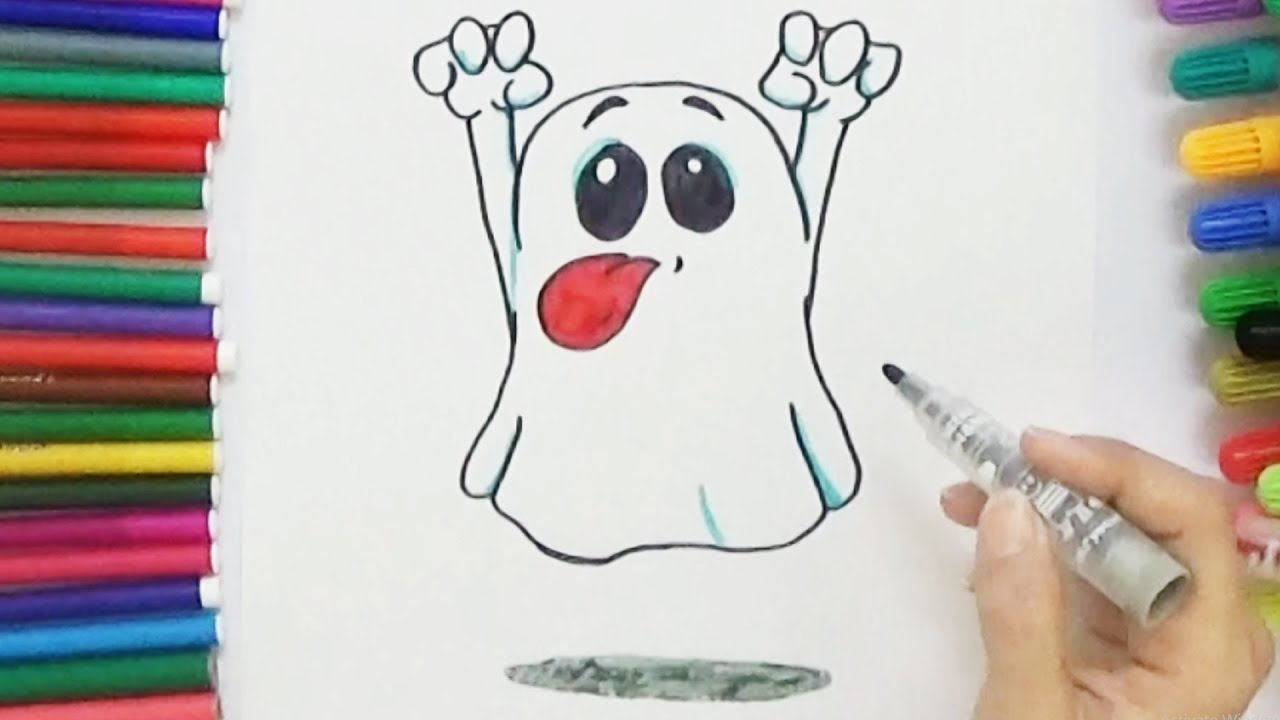 1280x720 How To Draw A Cute Ghost
