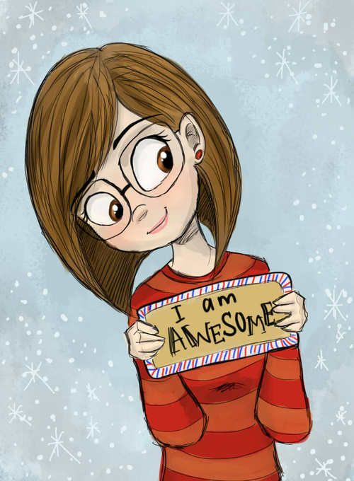500x680 Cartoon Girls With Glasses Group