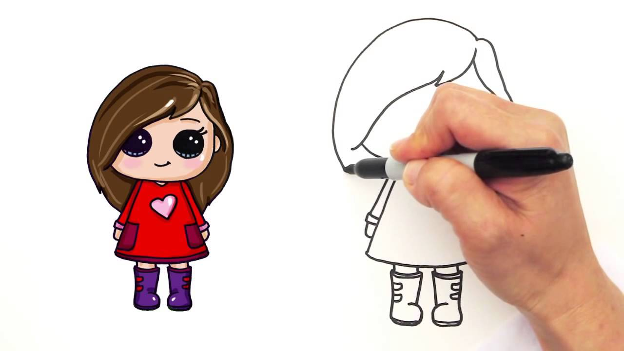 1280x720 How To Draw A Girl Easy And Cute