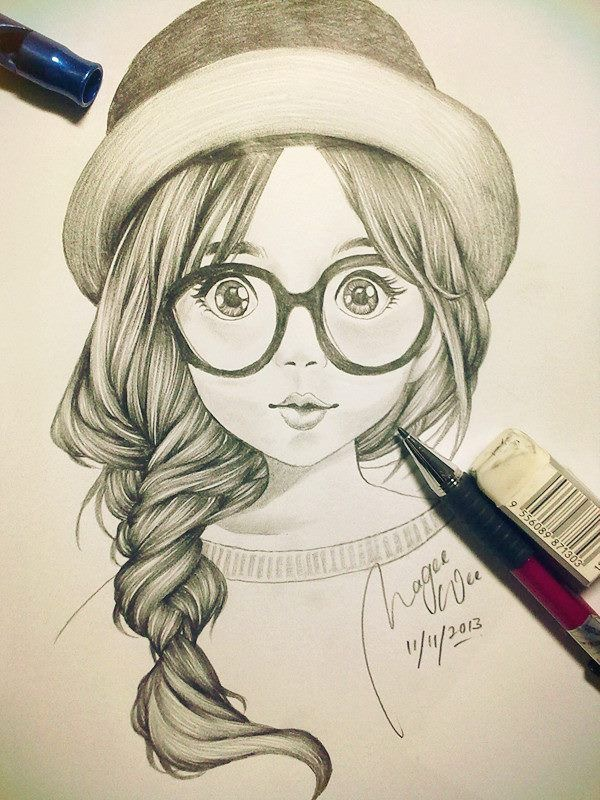 600x800 Cute Girl Sketch Art Drawings Girl Sketch