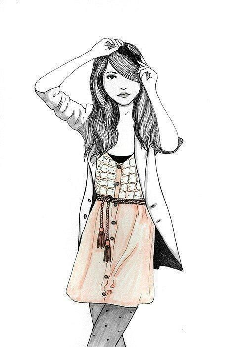 467x700 Gallery Drawing Image Of Cute Girls,