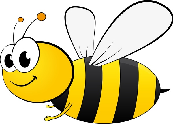 600x430 Cute Honeybee Vector Illustration With Cartoon Style Free Vector