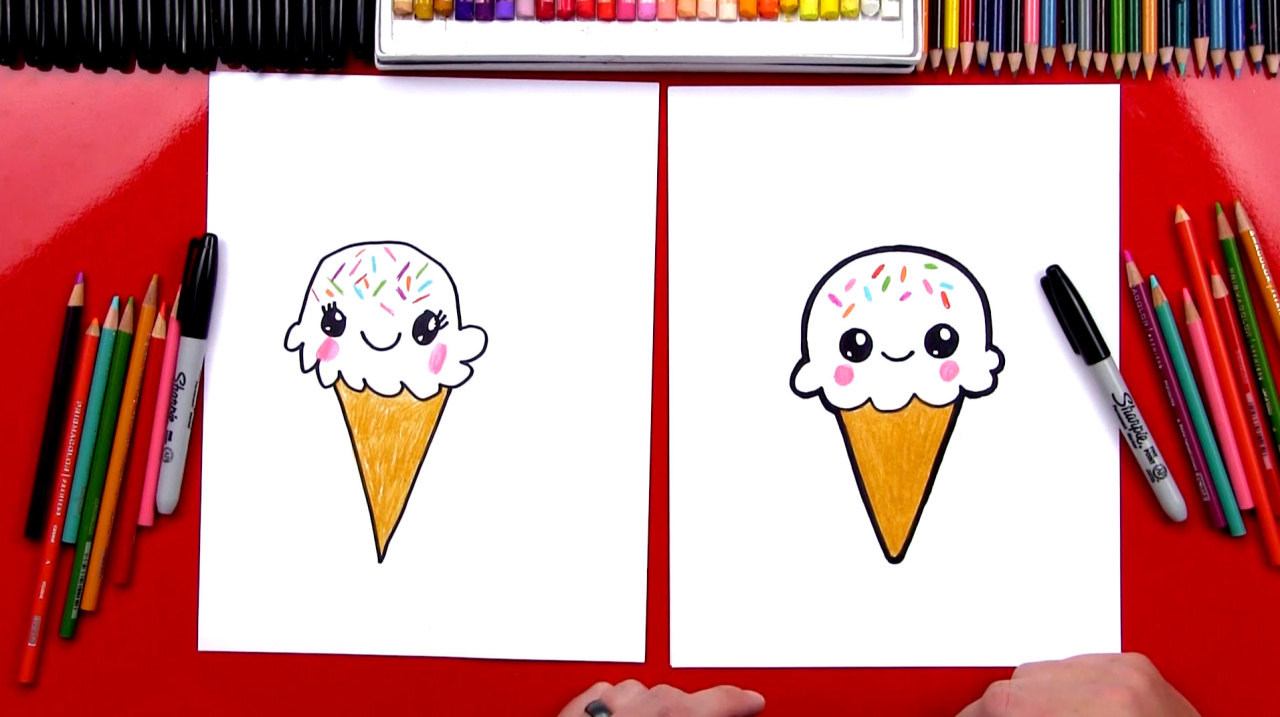 1280x717 Art For Kids Hub! How To Draw A Cute Ice Cream