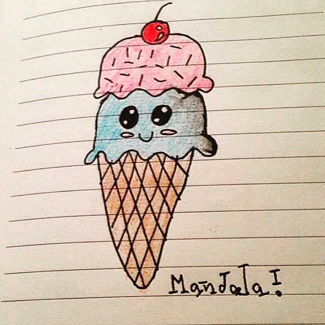 Cute Ice Cream Drawing At Getdrawingscom Free For Personal Use