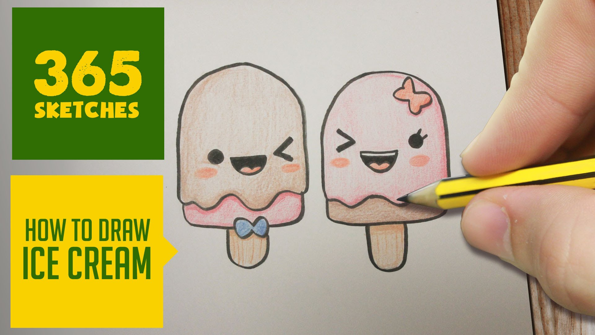 1920x1080 How To Draw A Ice Cream Cute, Easy Step By Step Drawing Lessons