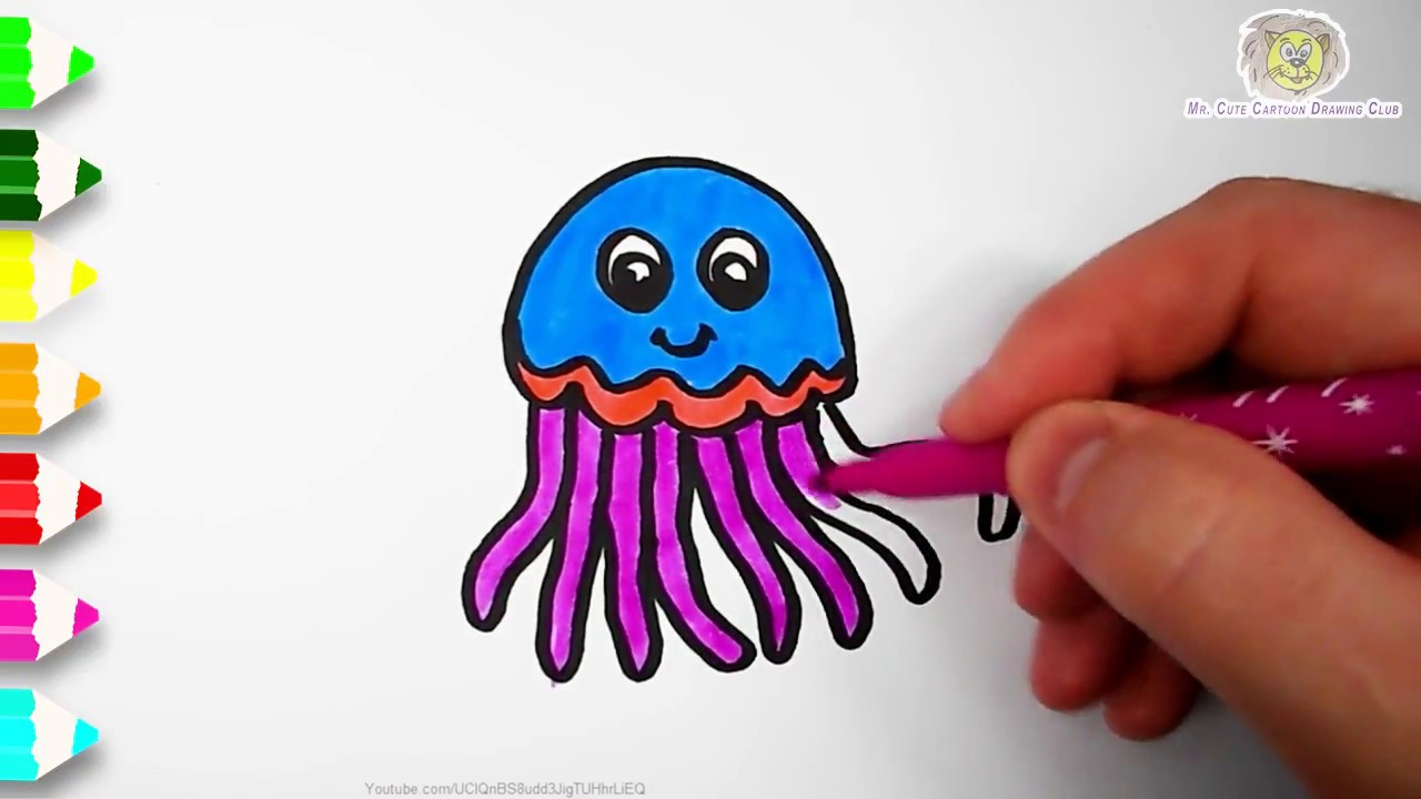 Cute Jellyfish Drawing at GetDrawings | Free download