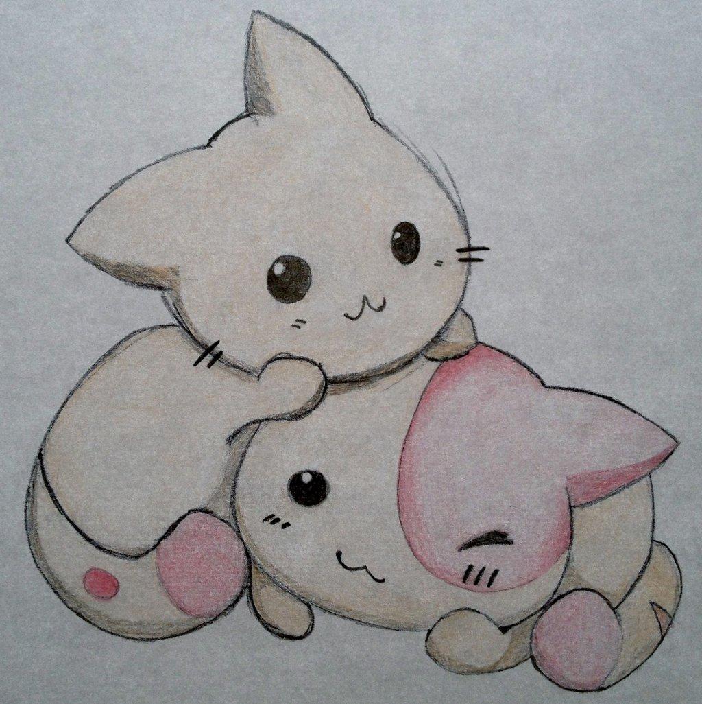 1024x1026 30 Beautiful Cute Kitten Drawing