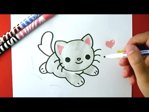 480x360 How To Draw A Cute Kitten