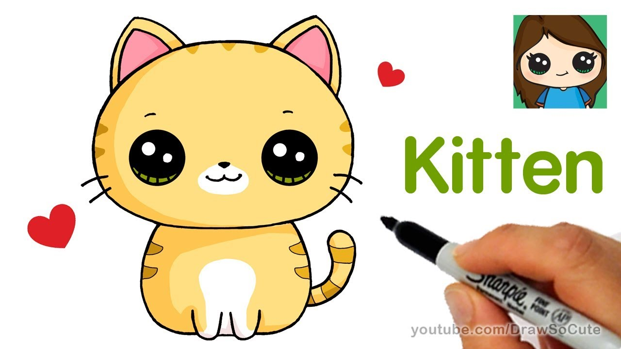 1280x720 How To Draw A Kitten Super Easy
