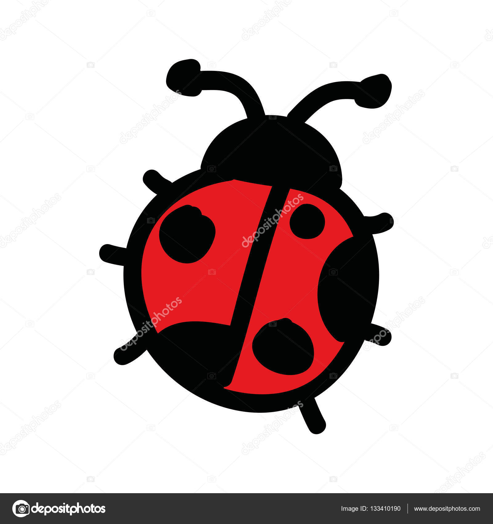 1600x1700 Cute Ladybug Drawing Isolated Icon Stock Vector Yupiramos
