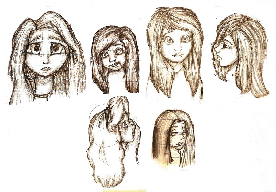 900x628 Cute Little Sketches Of Girls By Twinxabella