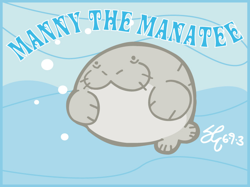 800x600 Manny The Manatee By Shane613