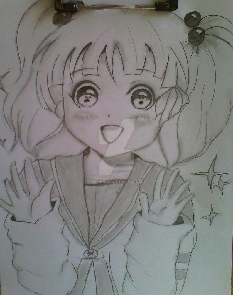 794x1007 Cute Manga Girl Drawing Pencil By Shakthiart20