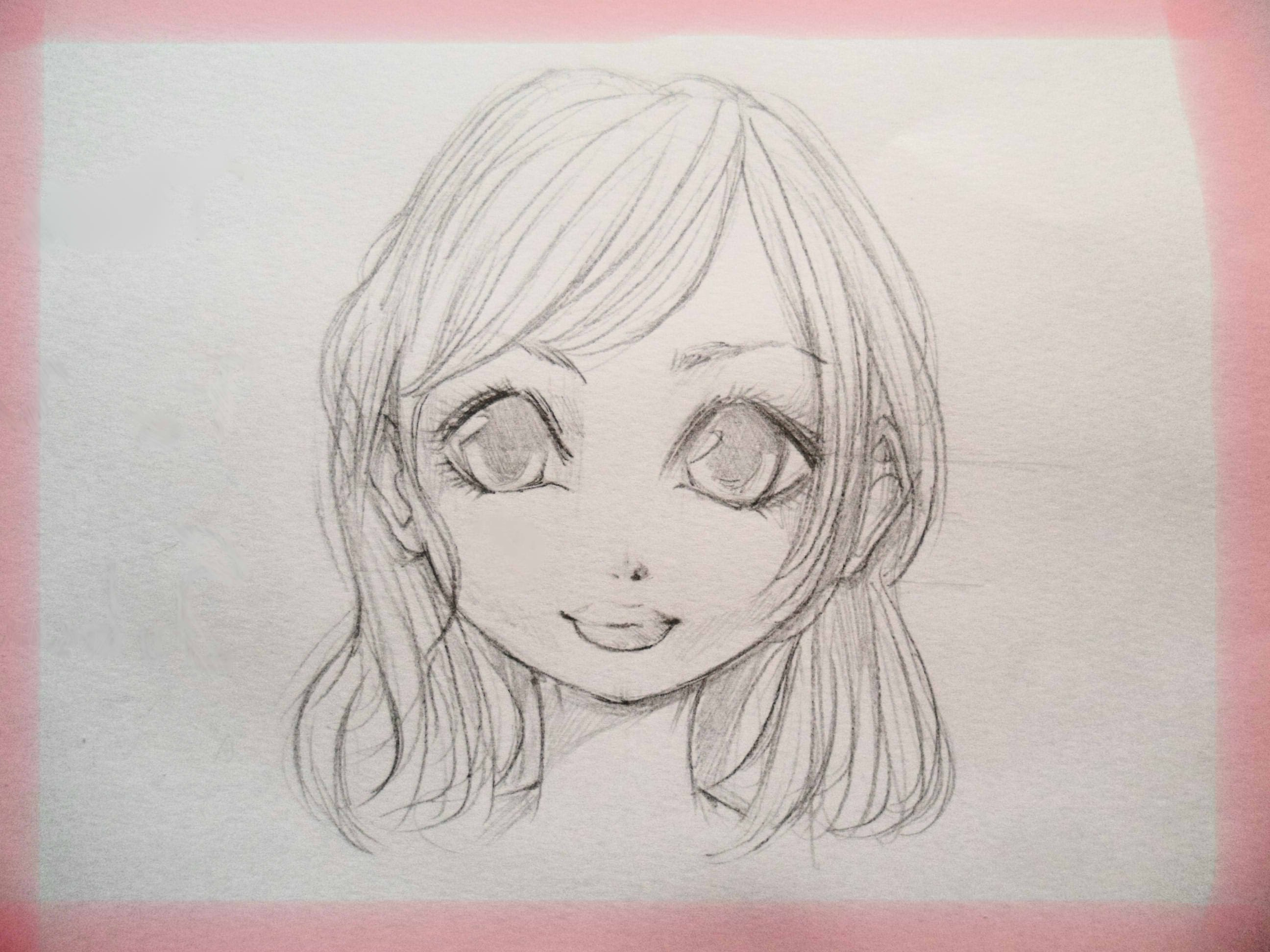 2592x1944 Drawing Images Of Cute Girl Face How To Draw A Cute Manga Girl