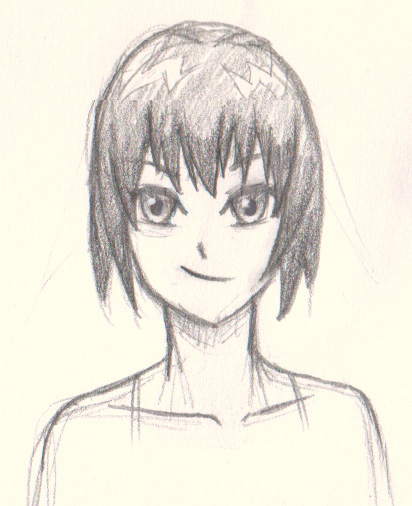 412x506 How To Draw Manga Short Hair Cute Spunky For Girl