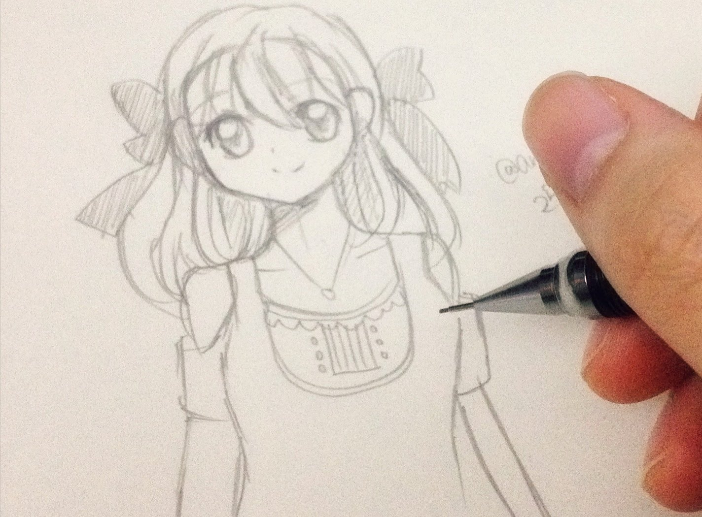 1424x1050 How To Draw A Manga Girl Step By Step In Slow Tutorial