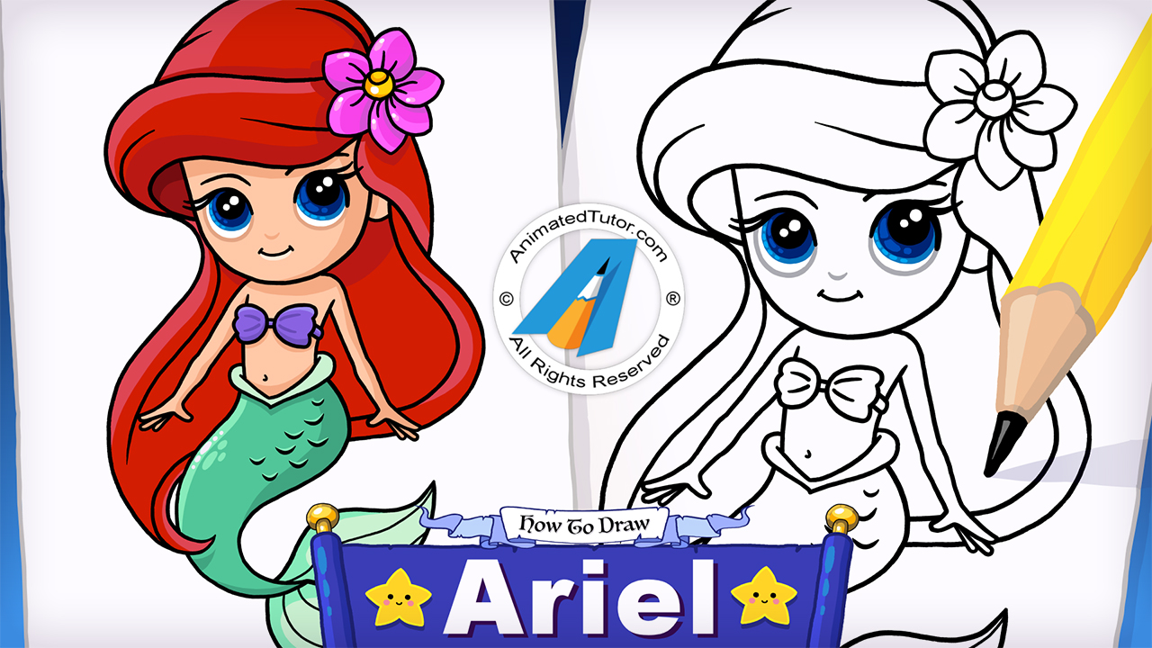 1280x720 How To Draw A Mermaid Ariel The Little Mermaid