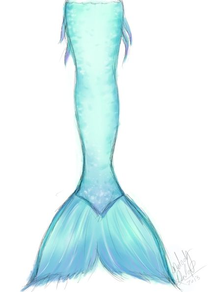 424x594 How To Draw Mermaid Tails