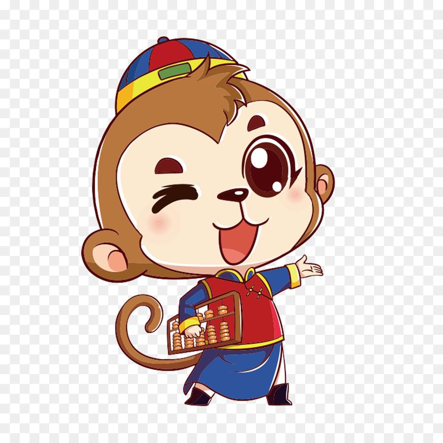 900x900 Cartoon Monkey Drawing