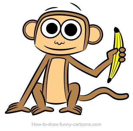450x442 Monkey Drawings (Sketching + Vector) Monkey, Drawings And Large Eyes